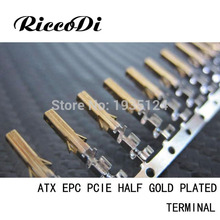 100pcs best price good quality Female ATX PCIE EPS CPU pin with half gold plated with long wings(China)