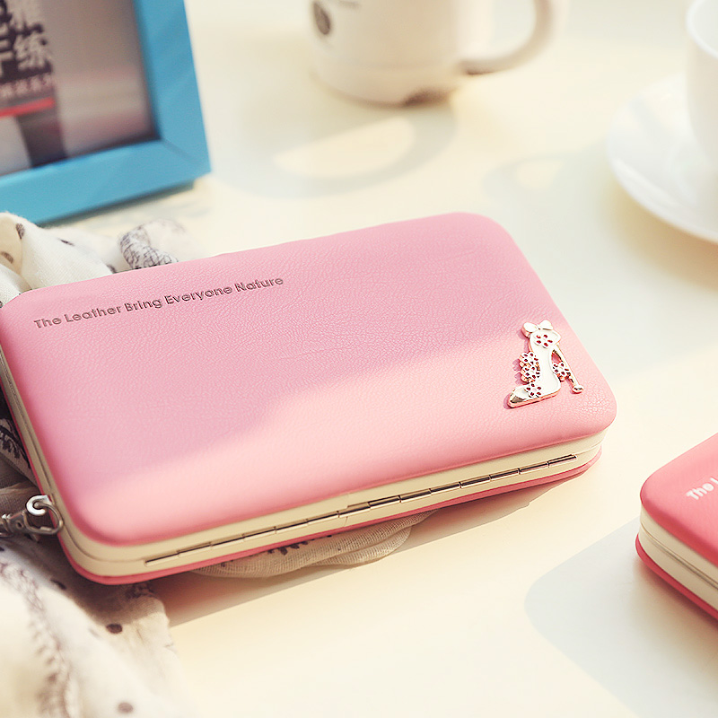 Leather Wallet Women Purse Phone Bag Case (13)