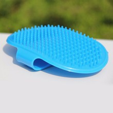 5pcs/set Soft Rubber Dog Bath Brush Comb Cleaning Massage Grooming Glove Cat Brush Blue Pink High Quality V2059