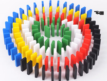BOHS 1set=120pcs Colourful Domino Wooden Toys(China)