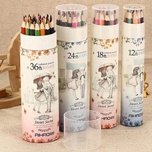 12 18 24 36 Colors Artist Professional Drawing Colored Writing Sketching Pencils AIZ9(China)