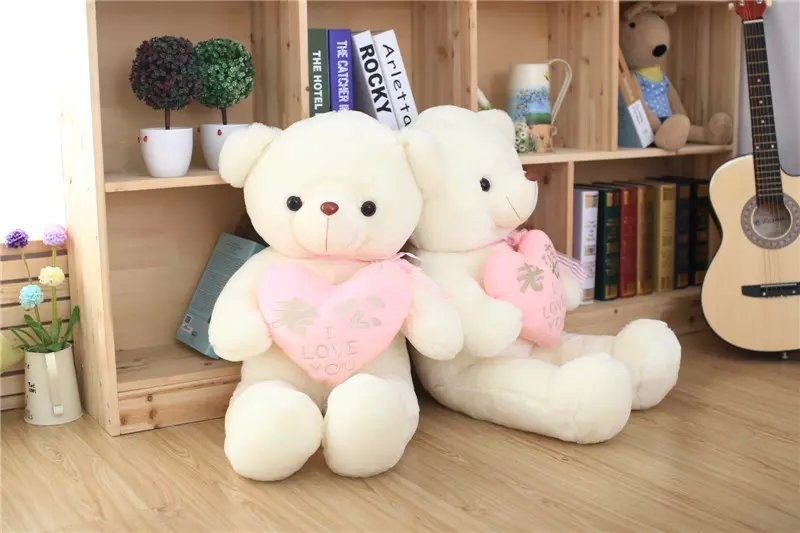 90cm New style Husband wife Heart bear plush toys Lovers bear cloth doll Valentines Gift birthday Wedding Present<br>