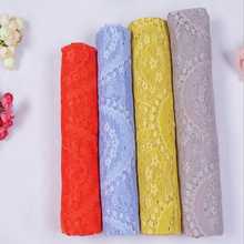 1PCS=1yard*150cm Solid color High quality dyeing Wedding dresses accessories wedding cloth roses warp lace fabric