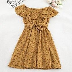 SKOONHEID женское платье с цветочным рисунком богемное платье трапециевидной формы с вырезом лодочкой и коротким рукавом летнее винтажное пляж...
