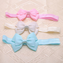 "2 Piece/lot 3"" inches Cute Kids Girls headbands Bows Headbands Bows Band hair accessories,acessorios para cabelo(China)"