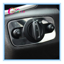 Hot Headlight Switch head light Adjustment Panel Sequins Sticker for Ford the new Fiesta 2009 2010 2011 2012 2013 2014 2015 2016