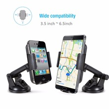 EC Technology Universal Car Mount Phone Holder 360 Degrees Rotation For iphone Andorid Smartphone Stand Hand Cell Phone Holder