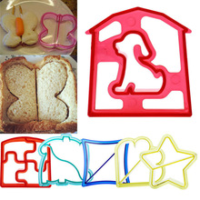 Best Sale 1pc Butterfly Dog Flower Shape Sandwich Cutter Cake Bread Toast Mold Mould for Your Lunch Breakfast Funny V3890(China)
