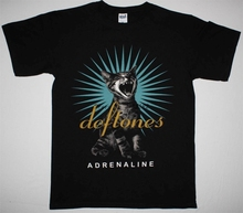 DEFTONES ADRENALINE 95 TEAM SLEEP NU METAL ALTERNATIVE NEW BLACK T-SHIRT men's top tees