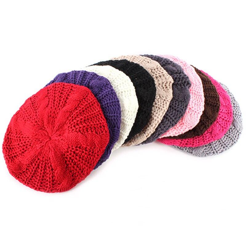 Fashion Multi Color Women Braided Baggy Beanie Beret Crochet Knitted Hat Warm Winter CapÎäåæäà è àêñåññóàðû<br><br><br>Aliexpress