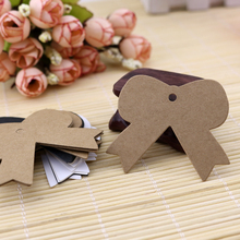 2015 New Jewelry Gift Packaging Display Card Tags Label 200pcs Kraft Paper Bowknot Design Plain Greeting Card(China)