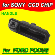 car rear view parking camera for Ford Mondeo CHIA-X/Ford Focus Hatchback Range Rover Freelaner trunk handle back up reverse(China)