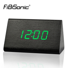 FiBiSonic Factory Modern Thermometer Desk Clocks, LED Digital clock, Alarm Clock,Sound Control Mini LED Table Clock(China)