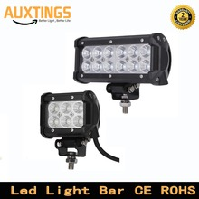 2pcs 4 inch 18W 7 inch 36W LED Work Light Bar Spot Flood Beam for Motorcycle Tractor Boat Car OffRoad Driving 4x4 Truck SUV ATV