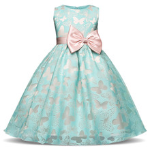 2017 Summer Teenager Little Girls Fashion Party Lace Tulle Chiffon Kids Wedding Events Dresses Baby Gowns Prom Children Evening