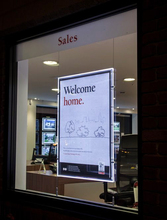 Single Sided Estata Window Display Illuminated Acrylic Signs,A1 Crystal Poster Frames LED Backlit Panel