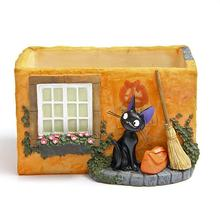High Quality Miyazaki Kiki's Delivery Service Kiki Cat & Magic Broom & Bag & House Resin Action Figure Toys Collection Model Toy