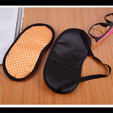Draagbare Soft Travel Sleep Rest Aid Oogmasker Cover Eye Patch Slaapmasker Case