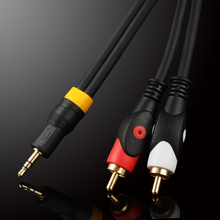 WinAqum Aux Audio 3.5mm Stereo Male Plug to 2 RCA Jack Y Splitter Cable For PC MP3 Smart Phone WT-332