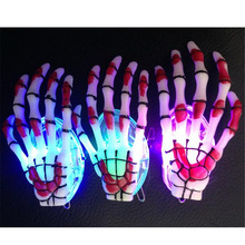 2017 Led Wedding Dress 25pcs/lot Fun Hand Light Up Skeleton Head Band Led Party Headband Rave Hair New Year Christmas Halloween