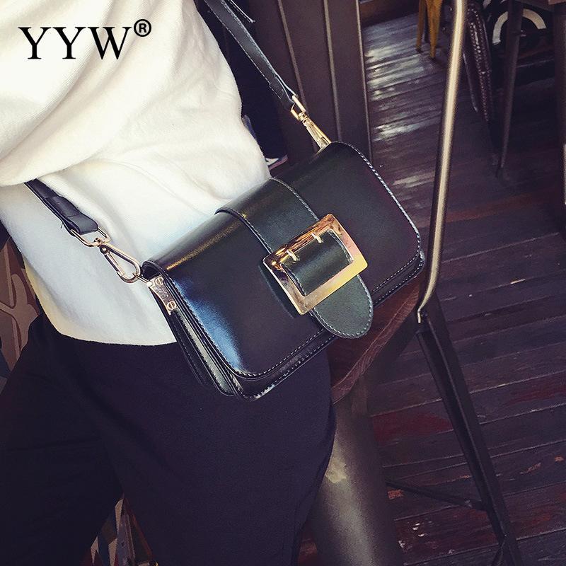 Famous Fashion Female Crossbody Bag Black PU Leather Women Handbags Brown Baguette Bag Zipper Shoulder Bags Women Small Bag<br>