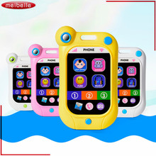 ABS Toy Phones Children's Educational toy Simulation Music Mobile Phone Toy for Child Birthday Gift Electronic Toy Phone(China)