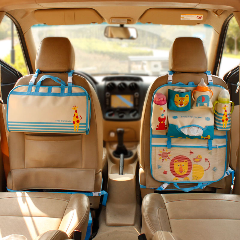 Baby Diaper Bag Cartoon Pattern Car Seat Organizer Thermal Bottle Insulation Bag Baby Care Nappy Tissue Bag Maternity BB6024