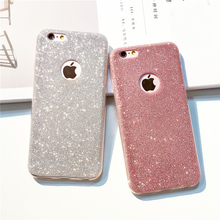 i7 7Plus UltraThin Glitter Bling Back Skin Cover for iPhone Crystal Soft Gel TPU Case for iPhone 5S 5 6 6s plus 7Plus Phone Case(China)