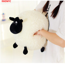 RMDMYC Shaun The Sheep Plush Toy Cute Hand Warmer Plush Doll Pillow Solf Stuffed Toys for Winter Home Office Hand Keep Warm Gift