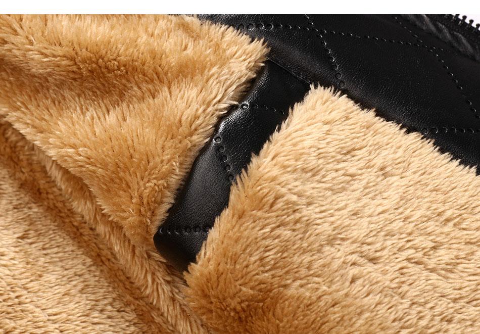 mens leather winter bomber jacket fur 11