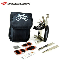 ROBESBON Bicycle Tools Set 13 in 1 Portable Bike Tire Repair Tool Kit Hex Spoke Wrench Cycle Screwdriver Bike Tool Sets M7602(China)