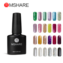 MSHARE Bling Colors UV Gel Nail Polish Long Last Gel Polish Platinum Gel Lak Gel Varnish Gelpolish Vernis Semi Permanent MS009