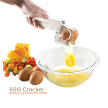 ZORASUN Creative Kitchen Egg Tools Egg EZ Cracker Beaters As Seen On TV Hand Hold Egg Beaters White Separator Cooking Tool(China)
