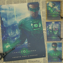 Vintage Poster Ryan Reynolds Green Lantern movie poster paint the bedroom wall painting retro poster 30x21cm(China)