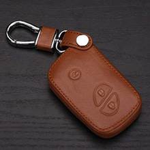100% Leather Key Case Key Cover For Lexus Rx Ls Lx Gx Gt Car Keychain Car Styling Auto Accessories
