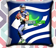Soft Flannel Zipperer Square Throw Pillows Cover Cushion Case Pillowcase with Seattle Seahawks Twin Sides for Football Fans