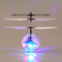 YKS Infrared Induction Flying Flash Disco Colorful Magic LED Ball Helicopter Toys for Children