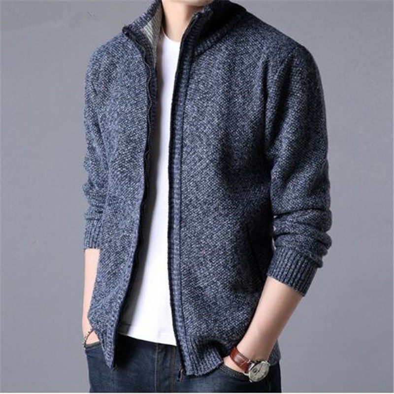Men Winter Warm Pullovers Mens Knitted Sweaters Cashmere Wool Pullover Men Casual Striped Sweater Men O-Neck Pull Homme