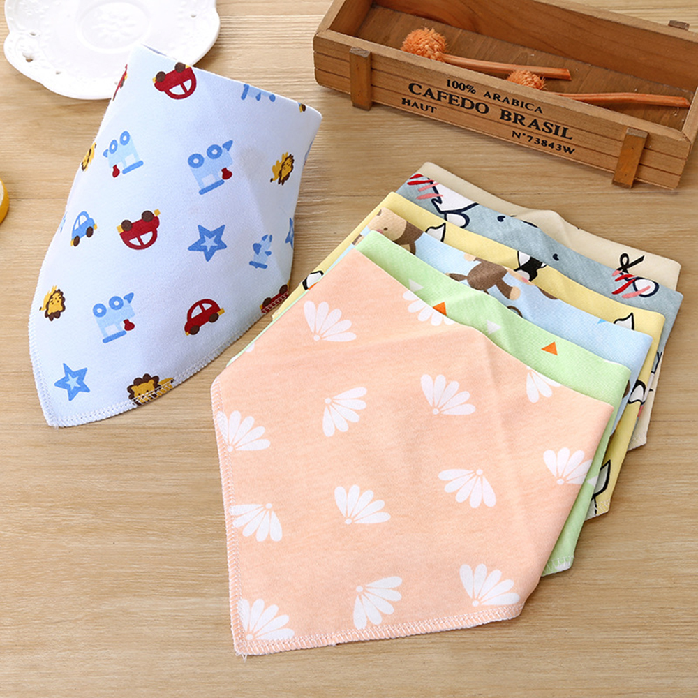 Cartoon Baby Cotton Bibs Cute Saliva Towel  Infant Burp Cloths  Baby Feeding Smock Baby Feeding Accessories Soft Baby Stuff(China)