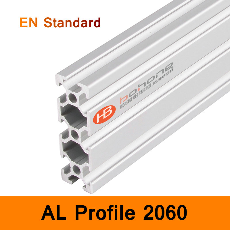 2060 Aluminium Profile EN Standard Brackets for DIY Bracket Table Holder AL Aluminum Shape 200-500mm Customized Size Slot Rail<br>