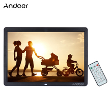 "Andoer 15""  HD LED Digital Photo Frame 1280*800 Multi-Languages with Remote Control Including Calendar MP3 MP4 Movie Player"