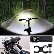 New Bicycle Light 3 Mode Zoomable Cree Q5 LED Cycling Front Light Bike Lights Lamp Lanternas With Clip Mount For AAA Battery