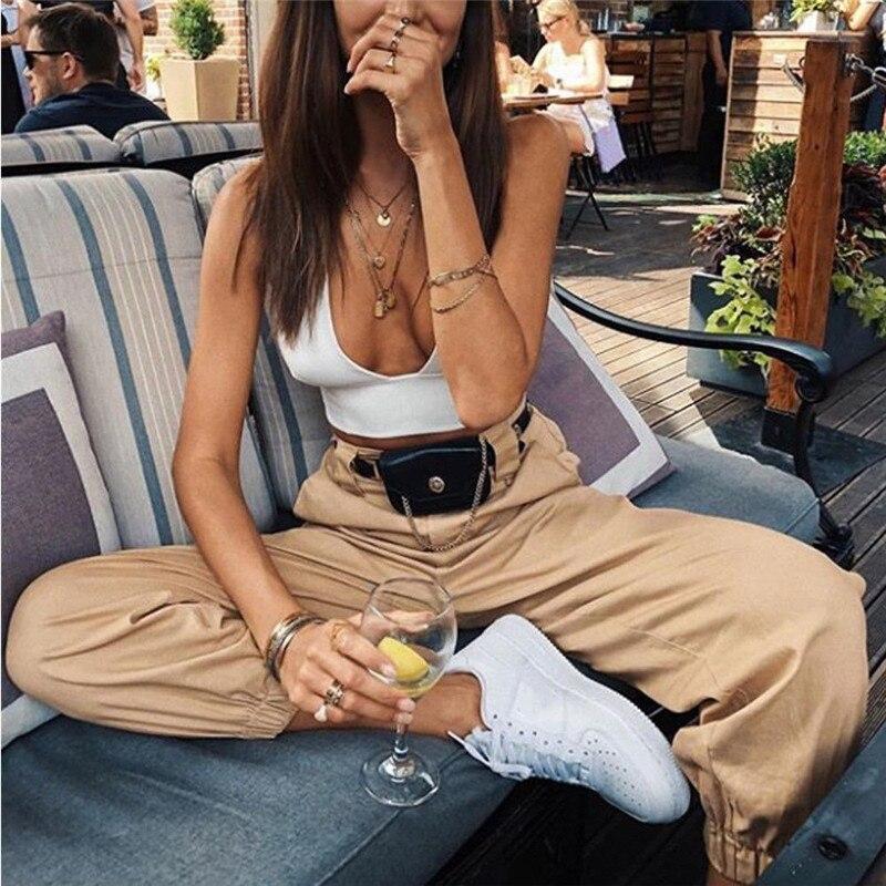 Trendy Women Plus Size Casual Pencil Pants 2018 Hot Sale Elegant Woman Loose Long Trousers Office OL Work Plain Pants Size S-2XL