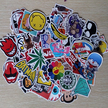 300pcs Funny GlossyCar Stickers Motorcycle Suitcase Home Decor Phone Laptop Covers DIY Vinyl Decal Sticker Bomb JDM Car styling