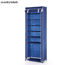iKayaa US UK FR Stock Shoe Racks Organizer 7 Tier Fabric Shoes Rack Cabinet Zip Up 10 Pair Standing Boots Shoes Storage
