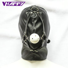 Buy Hollow Ball Gag Full Head Harness Slave Mask Restraint Adult Game Open Mouth Sex Products Sexy Toys Couples VP-Mg004003A