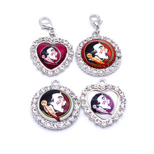 Dangle Charms University NCAA Florida State Seminole Charm Pendant Fit Bracelets Necklaces Jewelry Sport Football 2017 Fashion(China)