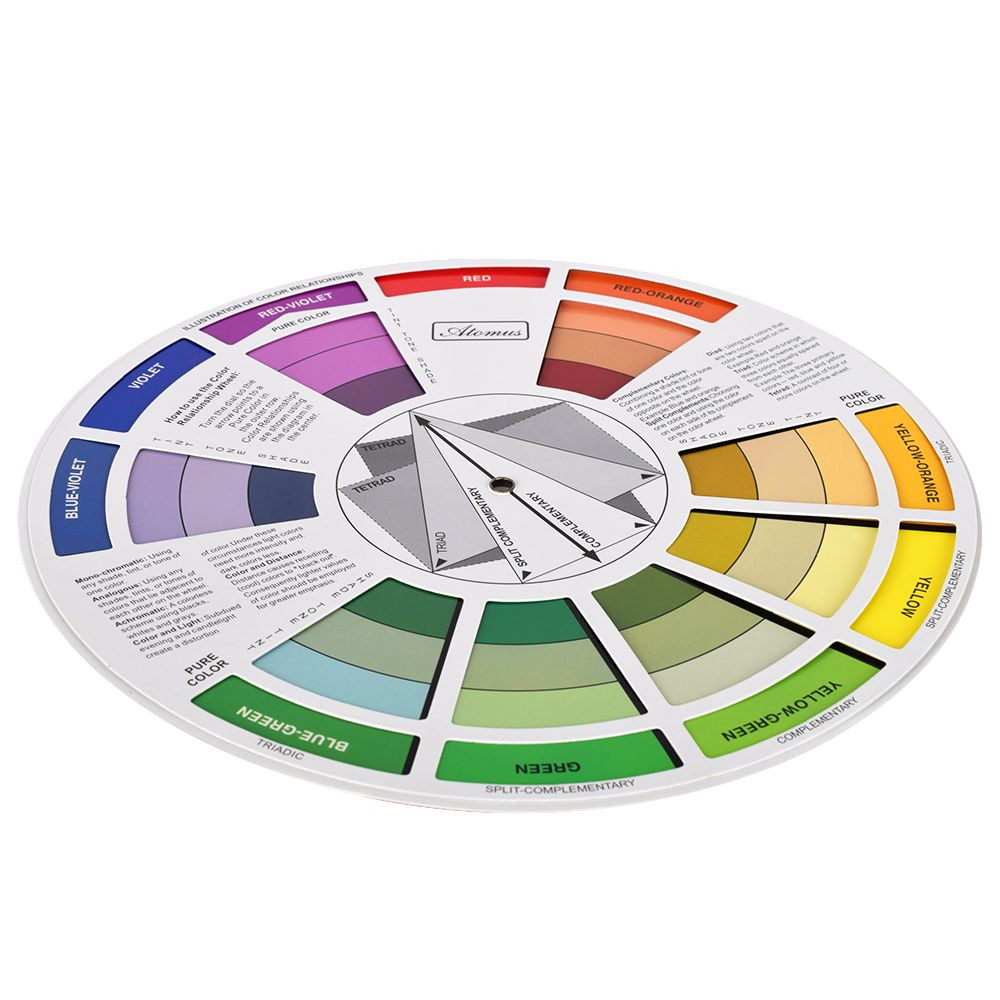 Atomus Artists Color Wheel Mixing Guide 23 5cm Diameter Tattoo