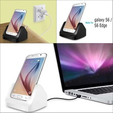 High white black Vertical Desktop USB Charger Charging Dock Cable Docking Station For samsung galaxy s6 g9200 s6 edge g9250