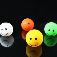 Lovely gift 7 colors changing Smiling nightlight changable color Round Smile Face LED night light lamp For hildren gift toy(China)